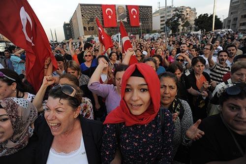 Manifestação em Istambul - 16/6/2013