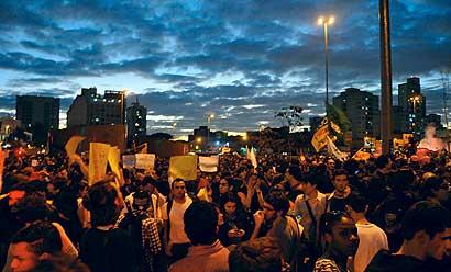 Manifestação no Largo da Batata, São Paulo