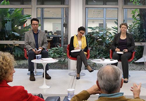 Márcio Seligmann-Silva, Juliana Perez e Brigitte Weiffel - 8/11/18