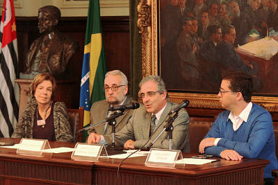Maria Alice Setubal, Paulo Saldiva, Marcelo de Andrade Roméro e Eduardo Saron