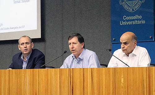 Mário Scheffer, José Eduardo Krieger e Drauzio Varella - 28/9/2018