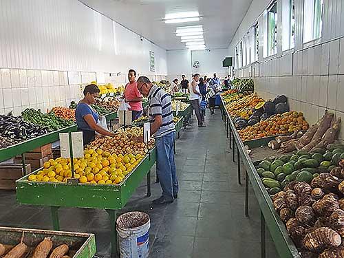Mercado de frutas e hortaliças