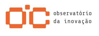 Logo OIC com assinatura laranja e cinza - horizontal