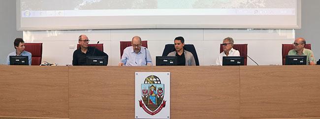 Otávio Schipper, José Miguel Wisnik, Paulo Herkenhoff, Vitor Guerra Rolla, Leopold Nosek e Fernando Iazzetta