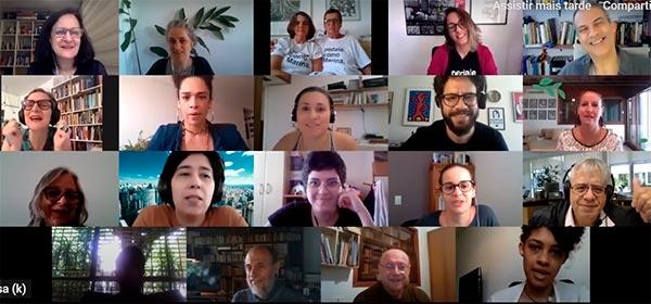 Participantes da homenagem a Marina Harkot - 21/11/2020