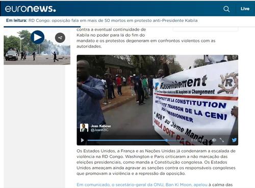 Protesto Congo