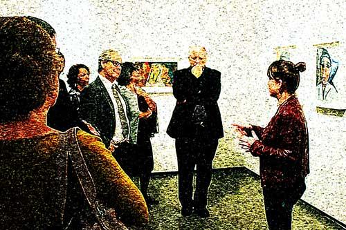 Público em exposição