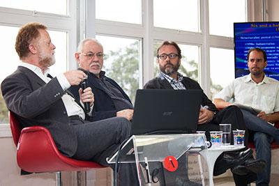 Ricardo Bielschowsky, Bernardo Sorj, Márcio Bobik Braga e Fábio Santos