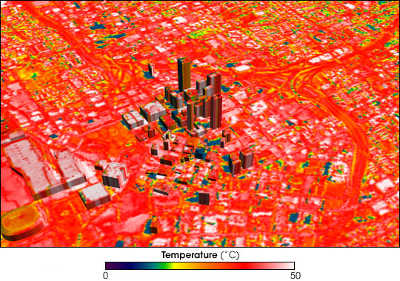 Variação da temperatura superficial em Atlanta