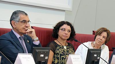 Vahan Agopyan, Eliana Sousa Silva e Maria Alice Setubal - 27/3/2018