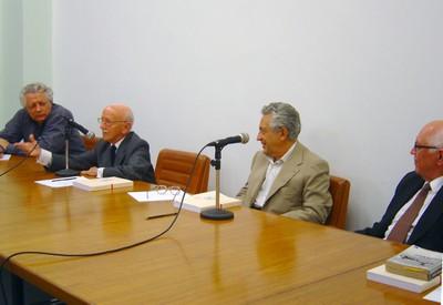 João Steiner, Hélio Bicudo, Alfredo Bosi e Dalmo de Abreu Dallari