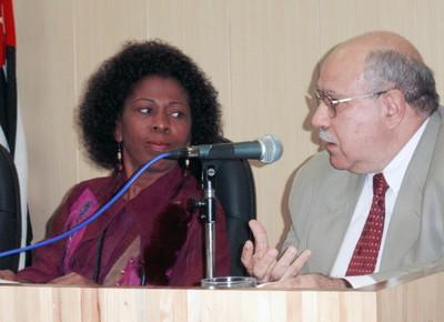 Arany Santana e José de Souza Martins