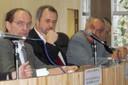 Hernan Chaimovich, Luiz Nunes de Oliveira e Werner Arber