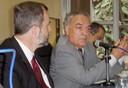 Luiz  Nunes de Oliveira e Werner Arber