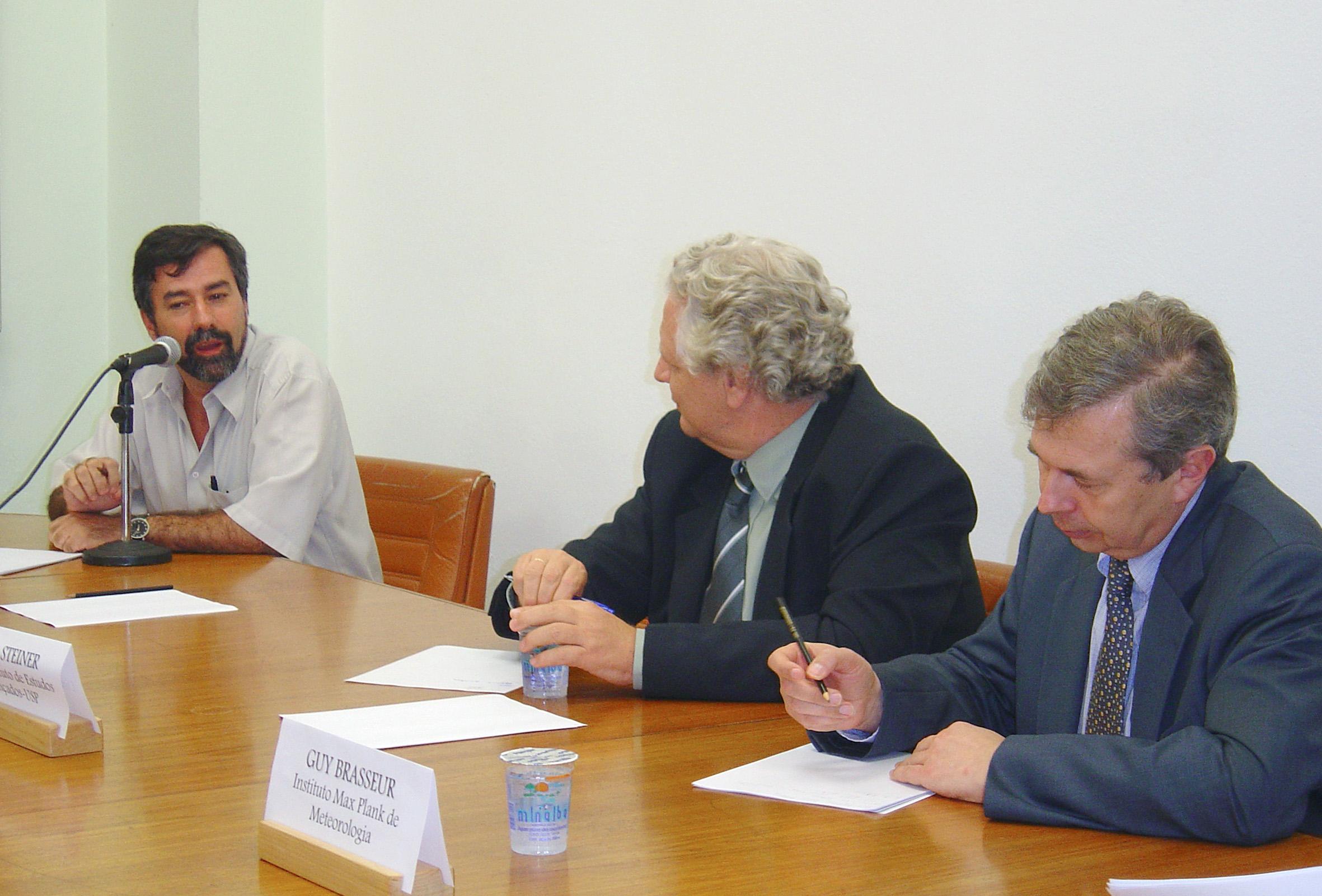 Paulo Artaxo, João Steiner e Guy Brasseur
