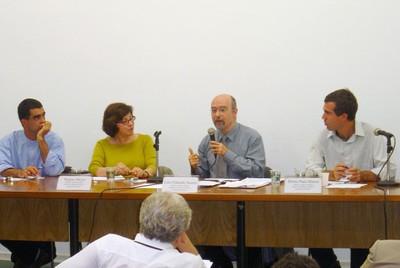 Eduardo Cesar Leão Marques, Regina Meyer, Luiz Eduardo Soares e Bruno Paes Manso