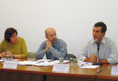 Regina Meyer, Luiz Eduardo Soares e Bruno Paes Manso