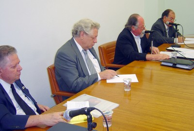 Lauro Morhy, João Steiner, Jacques Marcovitch e Marcos Macari