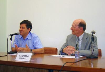 Fernando Reinach e Gerhard Malnic