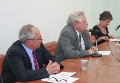 Ernesto Samper, João Steiner e Maria Hermínia Tavares de Almeida