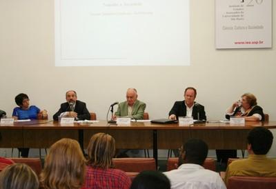 Cremilda Medina, Umberto Celli Jr, Gabriel Cohn, Claudio Salvadori Dedecca e Maria Cristina Cacciamali