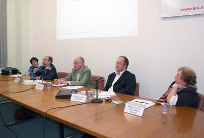 Cremilda Medina, Umberto Celli Jr, Gabriel Cohn, Cláudio Dedecca e Maria Cristina Cacciamali