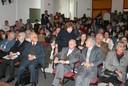 João Steiner, Geraldo Forbes, Fábio Konder Comparato, Jacob Gorender, Alfredo Bosi e Ecléa Bosi, na platéia do evento