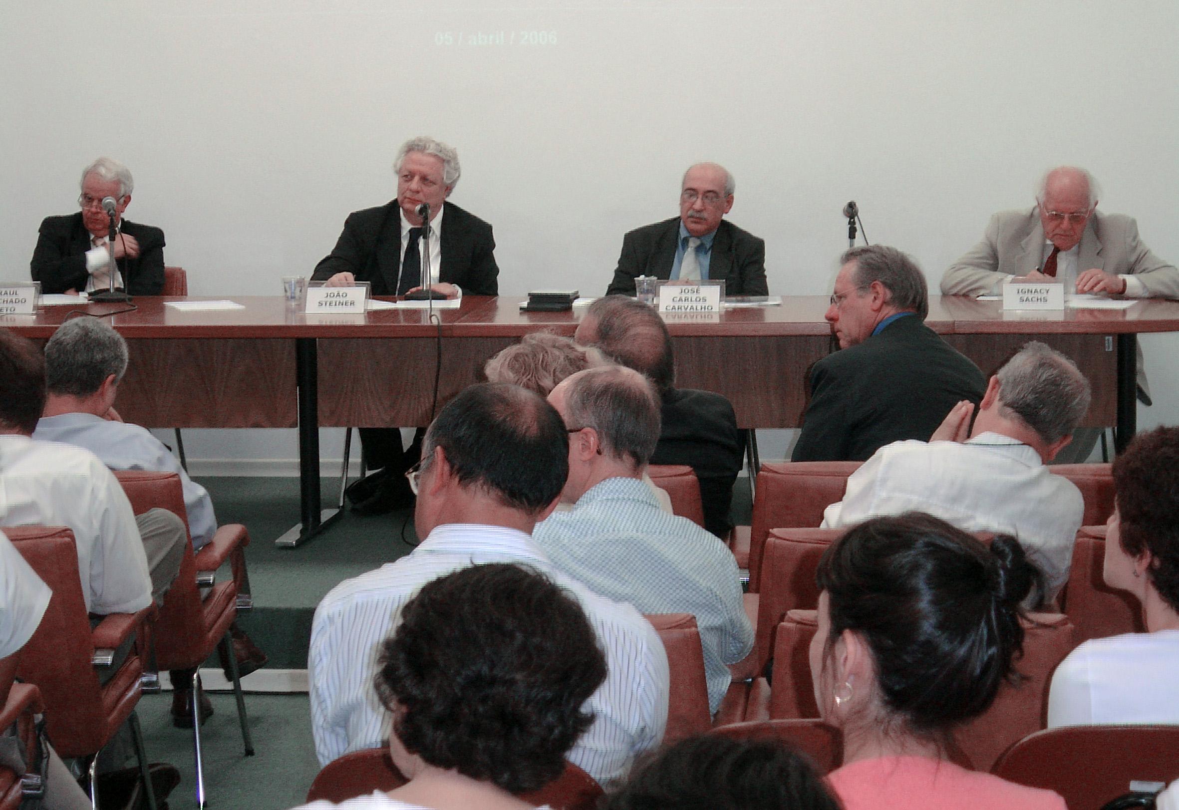Raul Machado Neto, João Steiner, José Carlos Carvalho e Ignacy Sachs