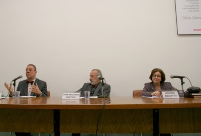 Rui Vieira Nery, José Eduardo Martins e Heloisa Bellotto