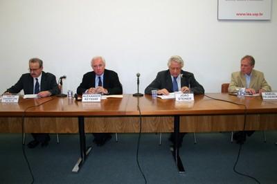 Carlos Eduardo Lins da Silva, Alexander Keyssar, João Steiner e Samuel Feldberg
