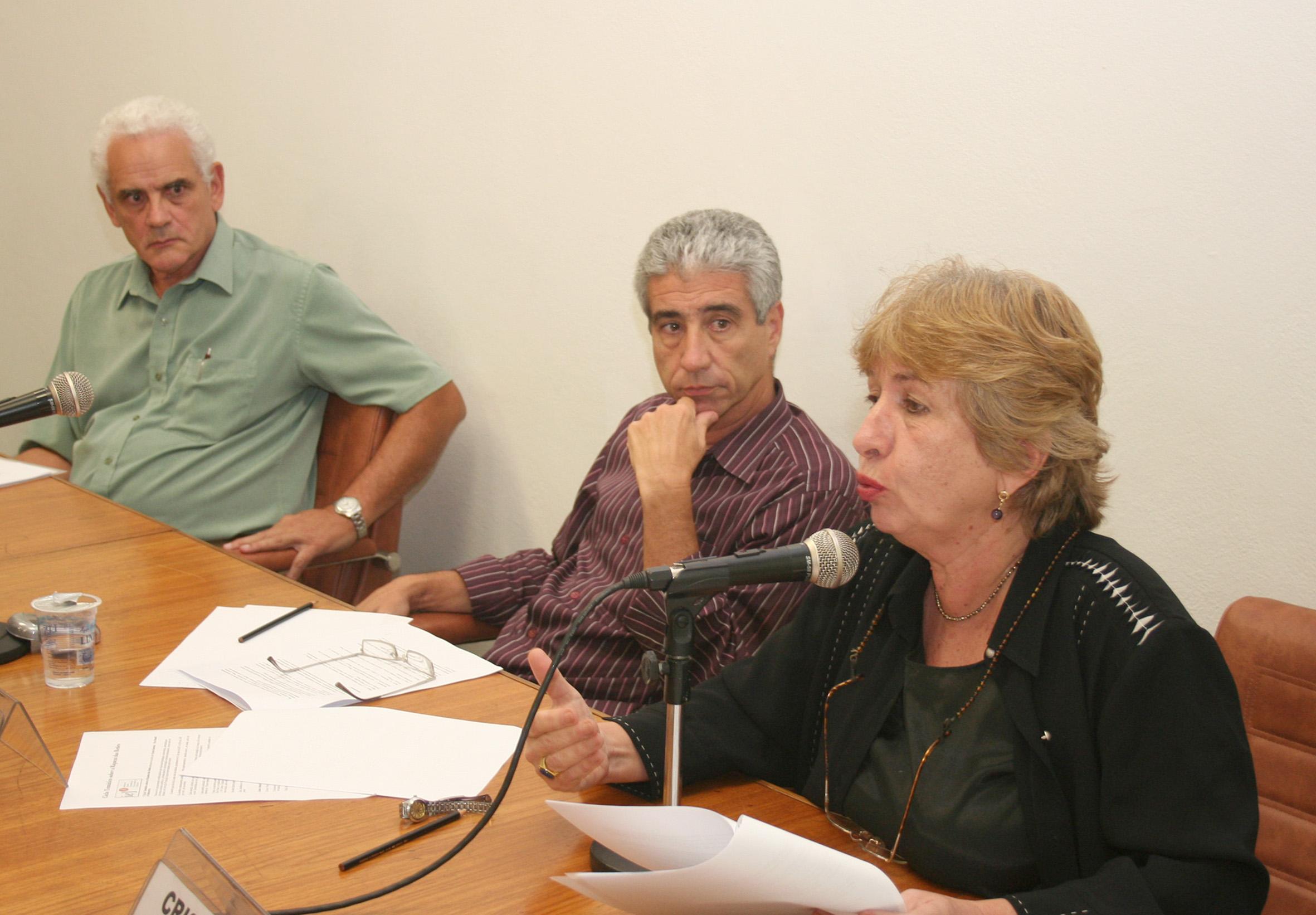 Eleutério Prado, José Eli da Veiga e Cristina Possas