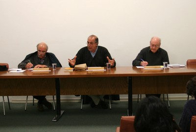 Marcos Barbosa de Oliveira, Pablo Mariconda e Hugh Lacey