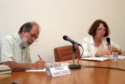 Pablo Mariconda e Anne Marcovitch