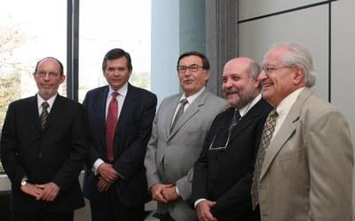 Hernan Chaimovich, Sergio Bravo Escobar, Franco Maria Lajolo, Ruy Alberto Corrêa Altafim e César Ades