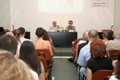 Ignacy Sachs e Ricardo Abramovay na abertura do evento