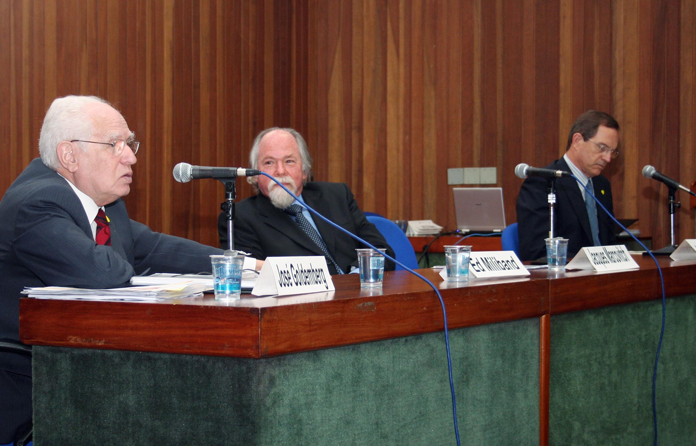 José Goldemberg, Jacques Marcovitch e Luiz Fernando Furlan