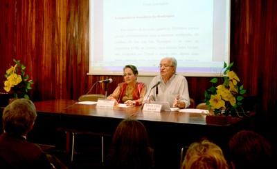Leyla Perrone-Moisés e César Ades