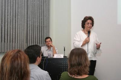 Vera Lúcia Imperatriz Fonseca inicia sua apresentação