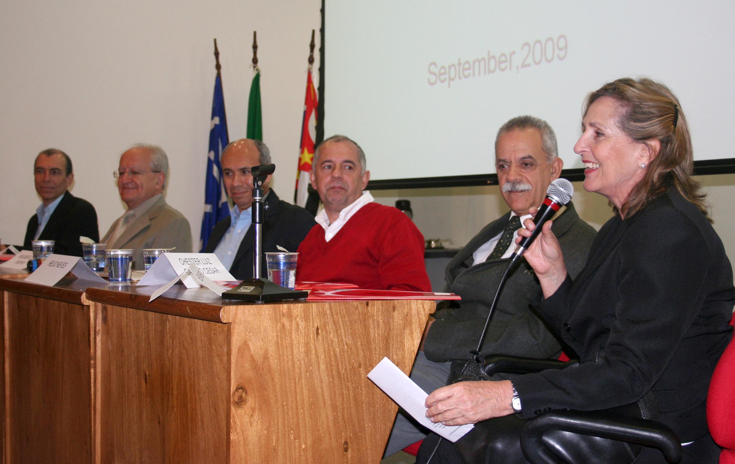 Rodrigo César de Araújo Cunha, César Ades, Wagner Costa Ribeiro, Helio Neves, Chester Luiz Galvão Cesar e Helena Ribeiro