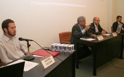 Andrei Cechin, José Eli da Veiga, Wagner Costa Ribeiro e Carlos Henrique de Brito Cruz