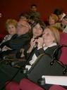Particpante do evento durante debate