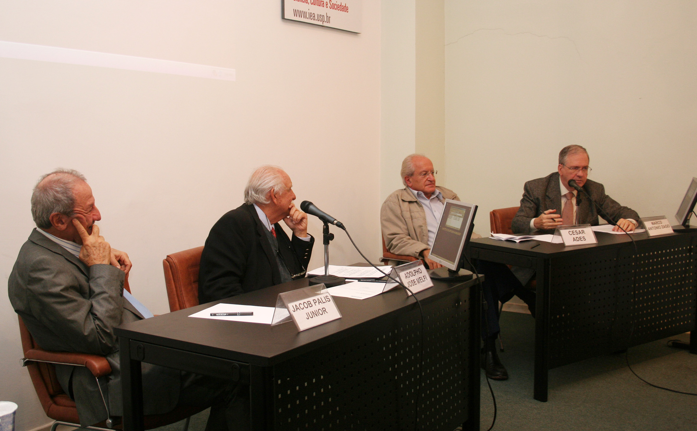 Jacob Palis Jr, Adolpho José Melfi, César Ades e Marco Antonio Zago