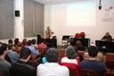 Alfredo Bosi e César Ades na abertura do evento