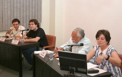 Fabrício Vasselai, Umberto Mignozzetti, José Genuíno e Maria Cecília Spina Forjaz