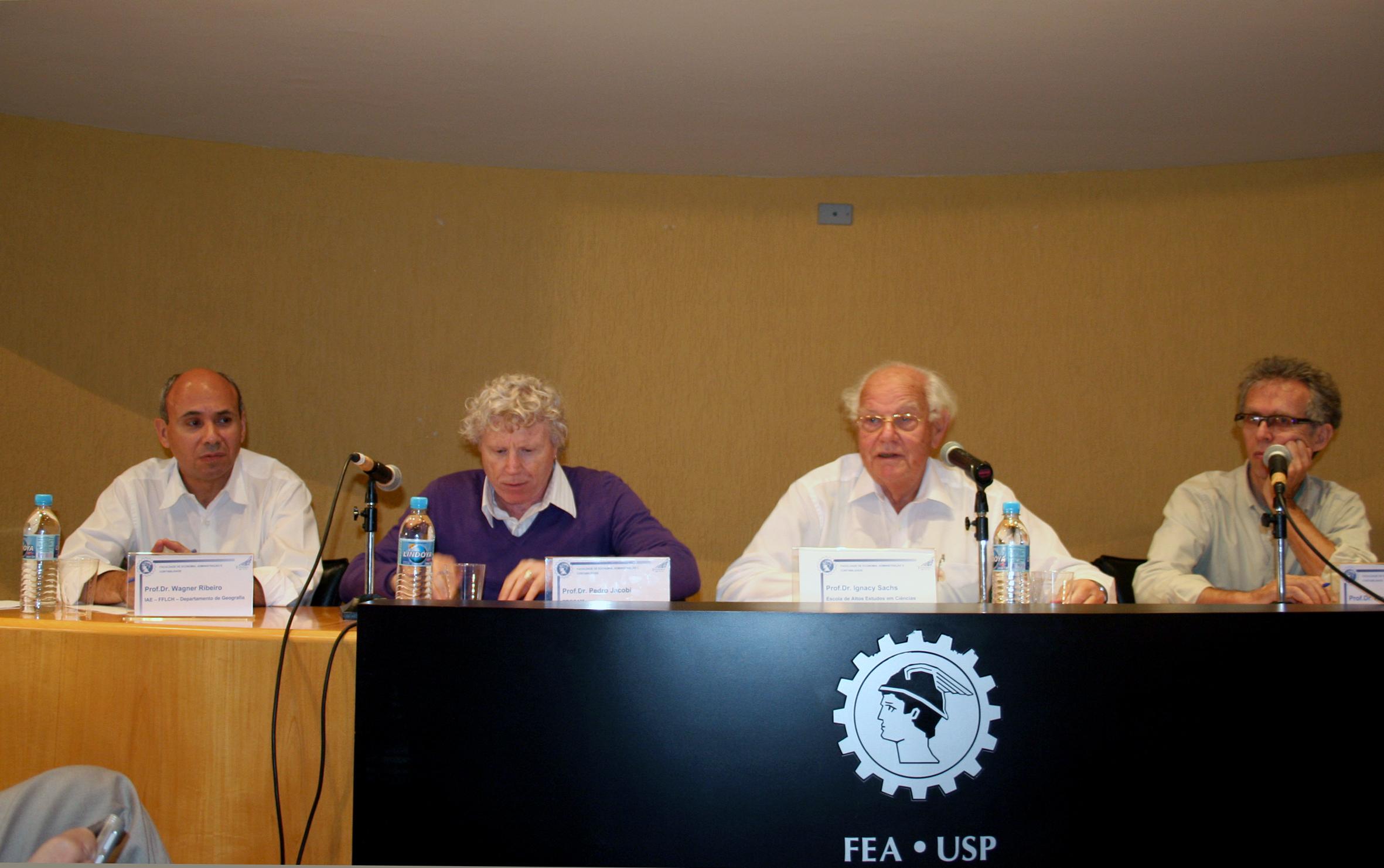 Wagner Costa Ribeiro, Pedro Jacobi, Ignacy Sachs e Ricardo Abramovay