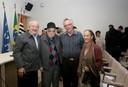 César Ades, Paulo Vanzolini, Robert Trivers e Francisca Carolina do Val