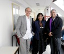 Martin Grossmann, Mridula Mukherjee e Aditya Mukherjee