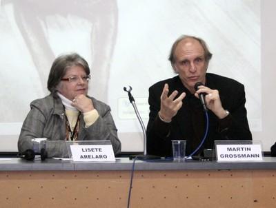 Lisete Arelano e Martin Grossmann