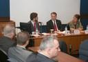 Ricardo Sennes, Radoslaw Sikorski and Maria Hermínia Tavares de Almeida