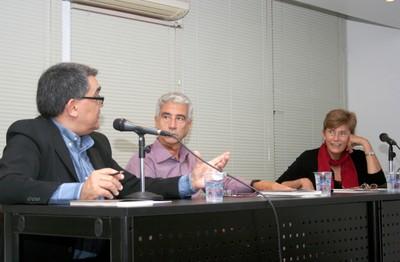 Marcelo Leite, José Eli da Veiga e Sonia Barros de Oliveira